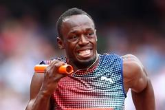 Usain Bolt runs the anchor leg in the 4x100m (Getty Images)