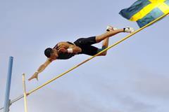 Konstadinos Filippidis at the 2014 IAAF Diamond League meeting in Stockholm (DECA Text & Bild)