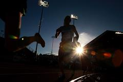 Athletes in action at Hayward Field in Eugene, Oregon (Getty Images)