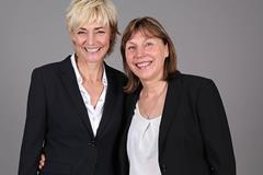 Heike Drechsler and Marita Koch ahead of the 2014 World Athletics Gala in Monaco (Giancarlo Colombo / IAAF)