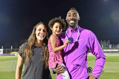 Donald Sanford, wife Danielle and daughter Amy at the 2015 Israeli championships (Jiro Mochizuki)