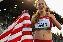 3000m winner Mary Cain at the IAAF World Junior Championships, Oregon 2014 (Getty Images)