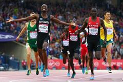 Nijel Amos wins the 800m at the 2014 Commonwealth Games (Gett Images)
