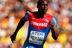 Panamanian sprinter Alonso Edward in the 200m (Getty Images)