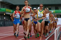 Anezka Drahotova in the 10,000m race walk at the 2014 IAAF World Junior Championships in Eugene (Getty Images)