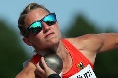 Germany's Carolin Schafer in the heptathlon shot put (Getty Images)