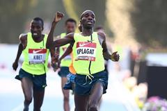 Silas Kiplagat winning the 1500m at the 2014 Rieti IAAF World Challenge meeting (Giancarlo Colombo)