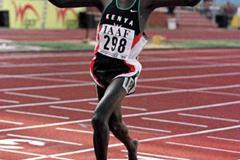 Kenya's Pius Muli in action during the 3000m (© Allsport)