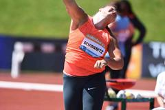 Christina Schwanitz at the 2015 IAAF Diamond League meeting in Birmingham (Jean-Pierre Durand)