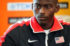 USA's Trayvon Bromell at the press conference ahead of the IAAF World Junior Championships, Oregon 2014 (Getty Images)