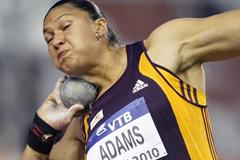 Valerie Adams in action at the IAAF Continental Cup (Getty Images)