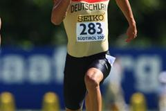 Steffen Klink of Germany during the Octathlon 100m (Getty Images)