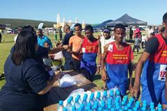 Runners after the Geraldine Pillay 5km Fun Run (Organisers)