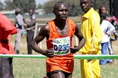 Geoffrey Kipsang on his way to victory at the Kena Police Cross Country Championships (David Ogeka / Photorun)