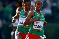 Alemitu Haroye on her way to 5000m gold at the IAAF World Junior Championships, Oregon 2014 (Getty Images)