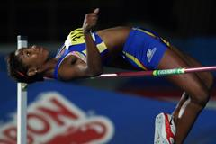 Maria Fernanda Murillo, winner of the high jump at the South American Youth Championships (Diego Sinisterra / organisers)