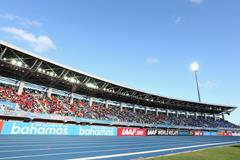 General view inside the Thomas Robinson Stadium, venue of the IAAF World Relays (Getty Images)