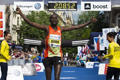 Nicholas Kemboi wins at the 2013 Volkswagen Prague Marathon (Volkswagen Prague Marathon)