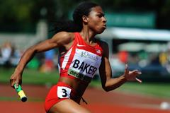 Olivia Baker in the 4x400m at the IAAF World Junior Championships, Oregon 2014 (Getty Images)