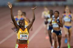 Eunice Sum wins the 800m at the IAAF Continental Cup, Marrakech 2014 (Getty Images)