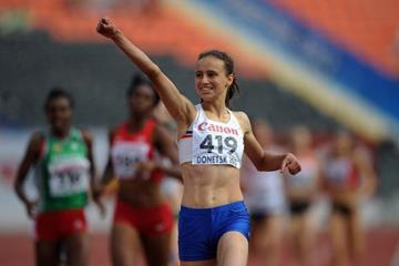 Anita Hinriksdottir in the girls 800m at the IAAF World Youth Championships 2013 (Getty Images)