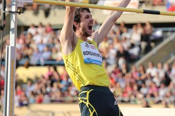 Bogdan Bondarenko at the 2013 IAAF Diamond League meeting in Lausanne (Gladys von der Laage)