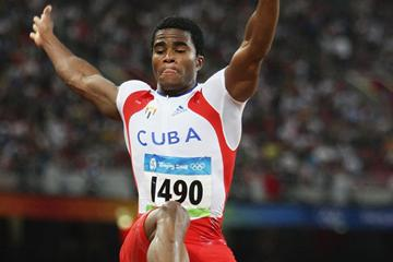 Wilfredo Martinez of Cuba makes it into the long jump final (Getty Images)
