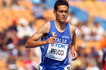 Italian distance runner Daniele Meucci at the IAAF World Championships (Getty Images)