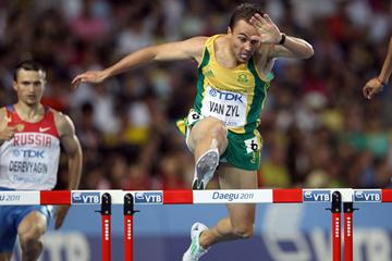 South African 400m hurdler LJ van Zyl (Getty images)