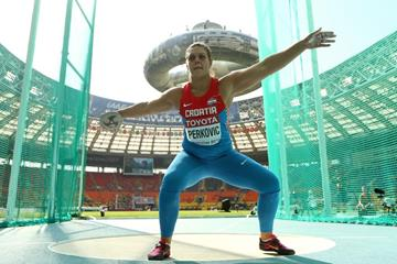 Sandra Perkovic in the wome's Discus Throw at the IAAF World Athletics Championships Moscow 2013 (Getty Images)