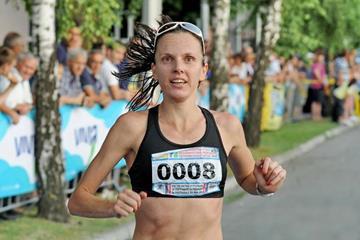 Aniko Kalovics wins the Vidovdan Road Race in Brcko (Ognjen Plavsic / Organisers)