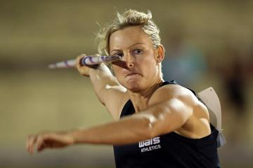 Kim Mickle throws 58.74m to win in Adelaide (Getty Images)