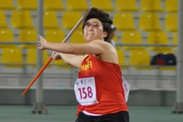 Yu Yuzhen at the 1st Asian Youth Athletics Championships in Doha (organisers)