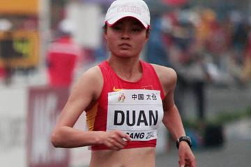 Duan Dandan on her way to victory in Taicang (Getty Images)
