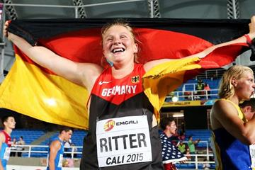 Julia Ritter at the IAAF World Youth Championships, Cali 2015  (Getty Images)
