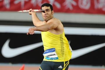 Ihab Abdelrahman El Sayed at the 2014 IAAF Diamond League meeting in Shanghai (Errol Anderson)