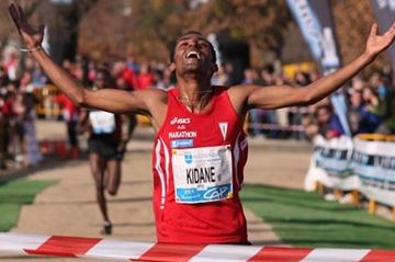 All smiles! A big win for Kidane Tadese in Alcobendas (Miguel Alfambra)