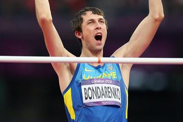 Ukraine's Bohdan Bondarenko in the 2012 Olympic High Jump final (Getty Images)