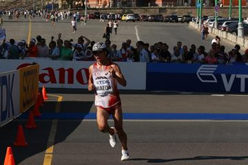 Kazuhiro Maeda in the 2013 IAAF World Championships marathon (Getty Images)
