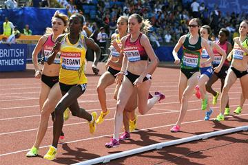 Abeba Aregawi on her way to winning the 1500m at the Birmingham Diamond League (Mark Shearman)