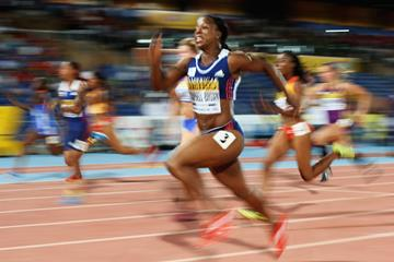 Veronica Campbell-Brown, winner of the 100m at the IAAF Continental Cup, Marrakech 2014 (Getty Images)