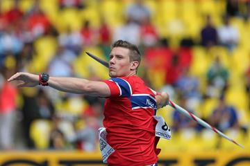 Andreas Thorkildsen in the mens Javelin Throw at the IAAF World Championships Moscow 2013 (Getty images)