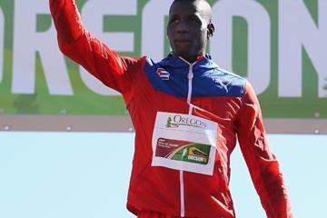 Triple jump champion Lazaro Martinez at the IAAF World Junior Championships, Oregon 2014 (Getty Images)