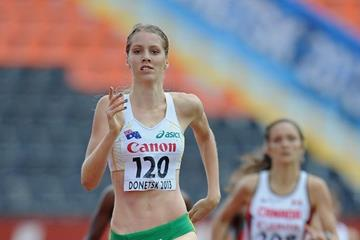 Georgia Wassall in the girls 800m at the IAAF World Youth Championships 2013 (Getty Images)