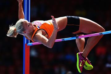 Nadine Broersen in the heptathlon high jump (Getty Images)