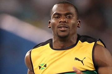 Nesta Carter competes in the men's 100 metres heats in Daegu (Getty Images)