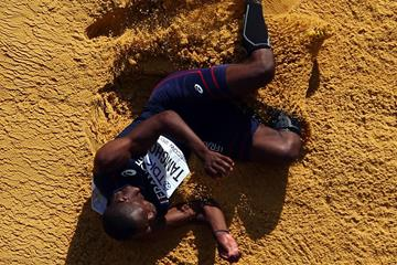 Teddy Tamgho in the mens Triple Jump Final at the IAAF World Championships Moscow 2013 (Getty Images)