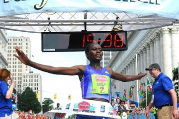Enily Chebet wins at the 2015 Freihofer's Run for Women (organisers)