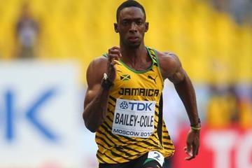 Kemar Bailey-Cole in the men's 100m at the 2013 IAAF World Championships in Moscow (Getty Images)