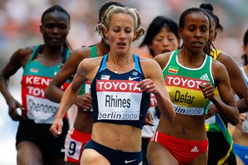 Jennifer Rhines of the United States qualifies for the women's 5000m final in Berlin (Getty Images)